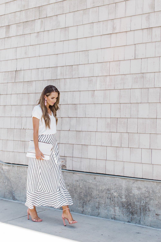 Merrick's Art Striped Maxi Skirt