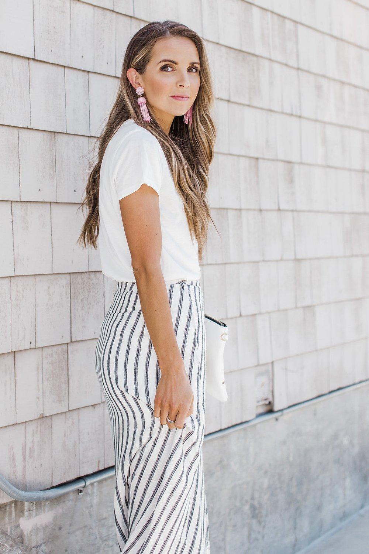 Merrick's Art Striped Midi Skirt