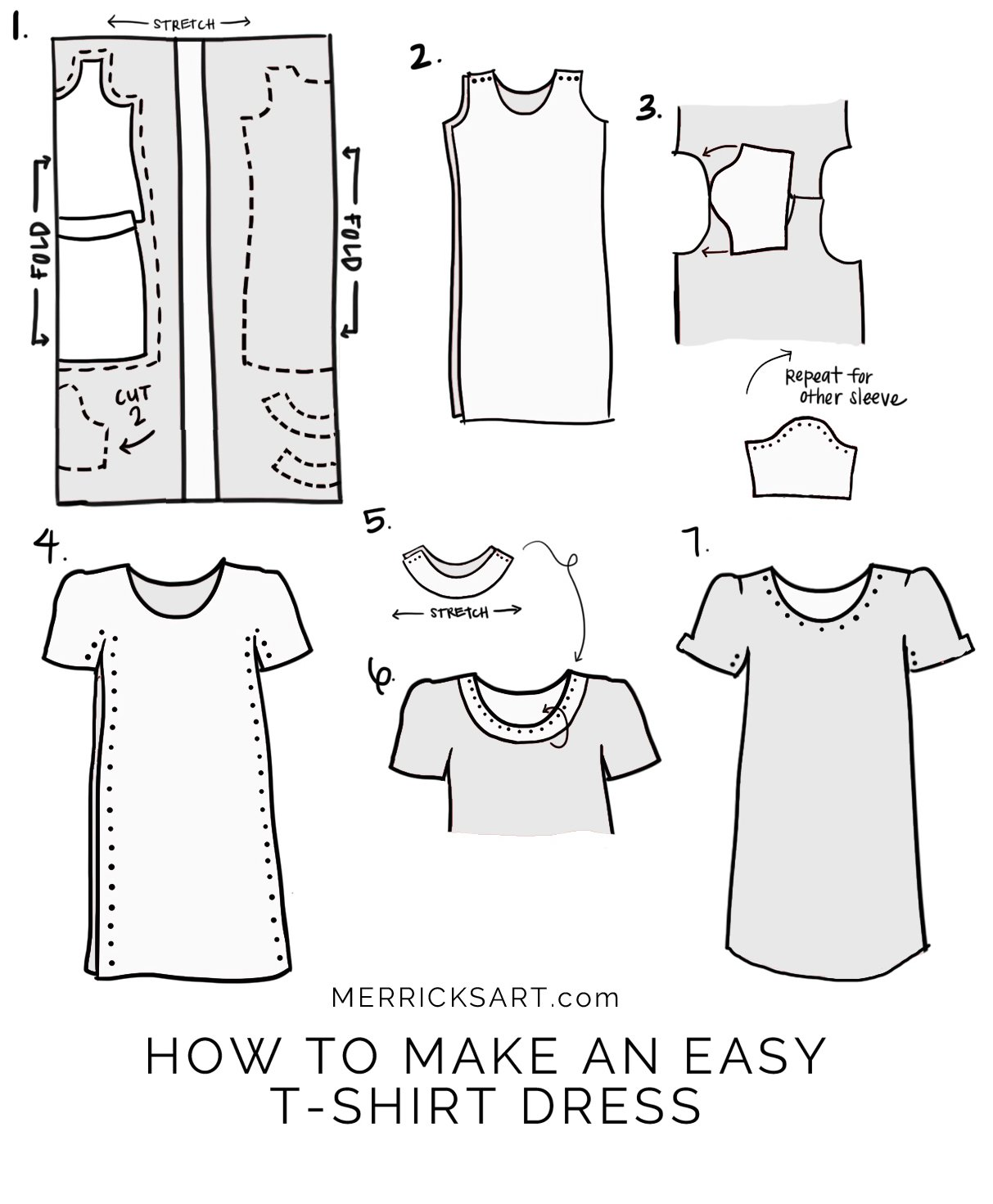 Merrick 39 s art style sewing for the everyday girlhow for Easy to make t shirt dress