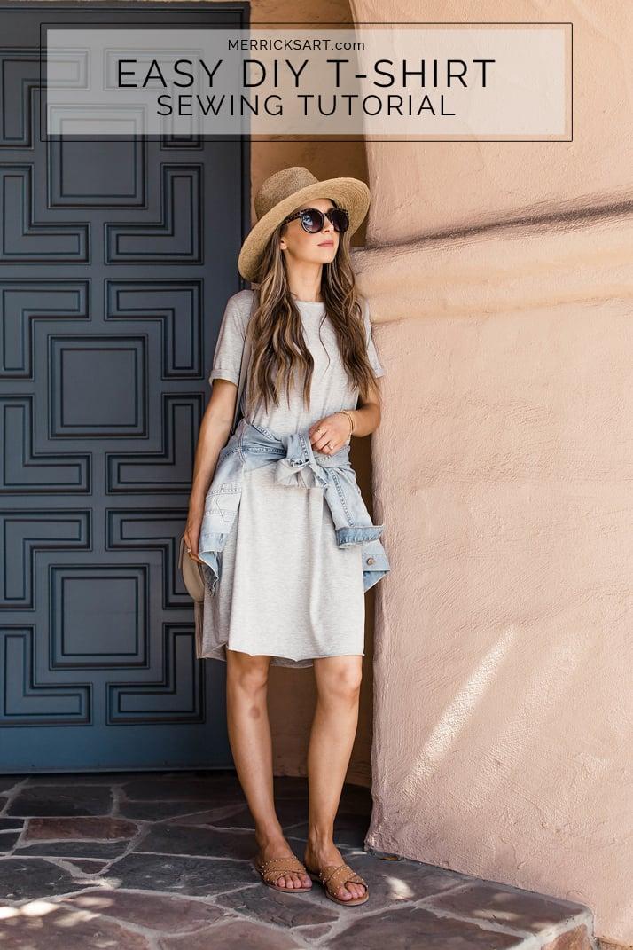 How to make an easy tee dress