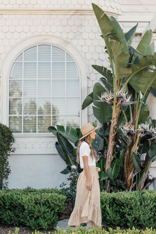 Merrick's Art Gingham Skirt and Palms