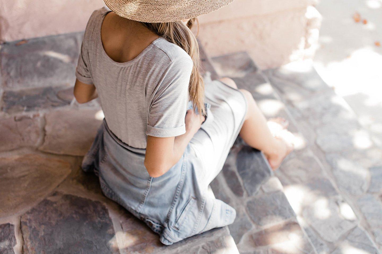 Merrick's Art Rolled Sleeve Dress