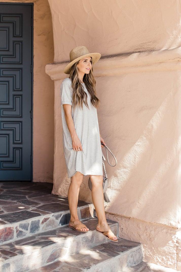 Merrick's Art Simple Gray Summer Dress