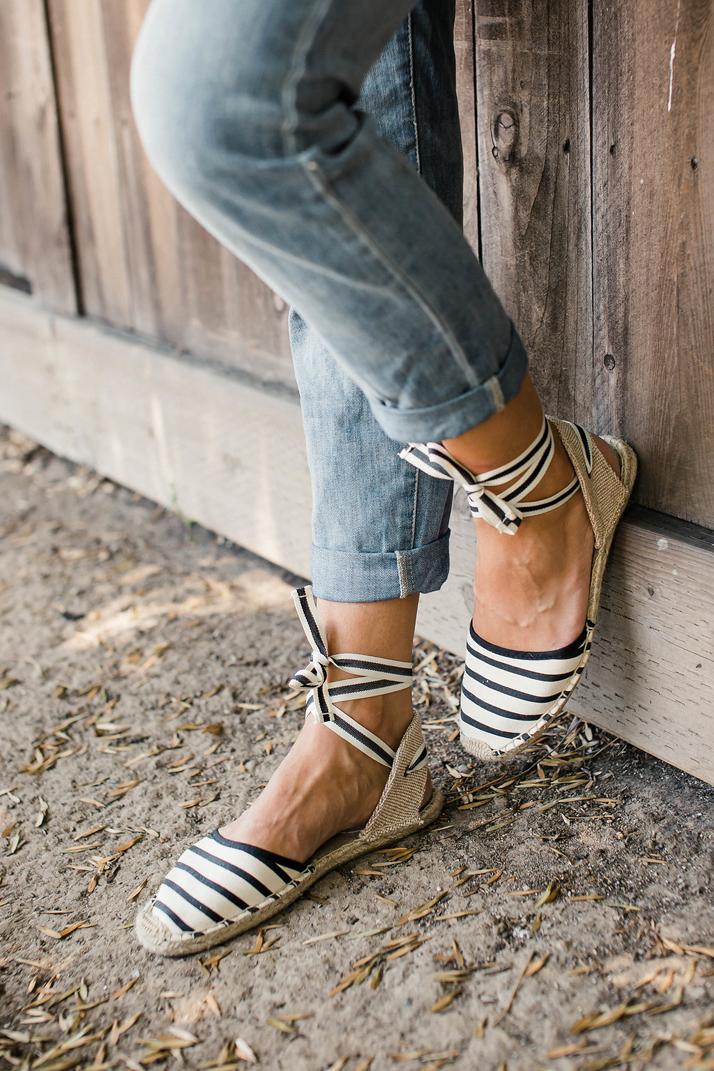 Merrick's Art Soludos striped espadrilles