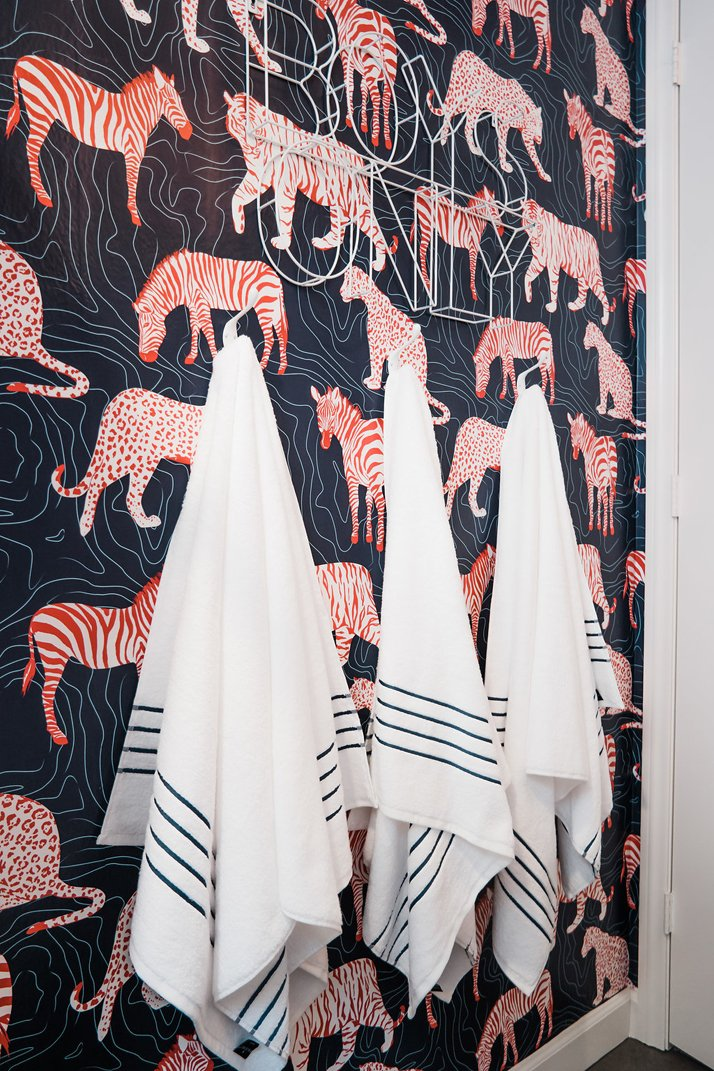 Merrick's Art Striped Bath Towels