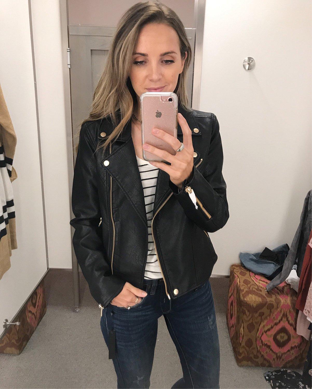 merricksart.com | black leather jacket and gold hardware
