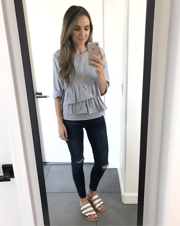 merricksart.com | long sleeve ruffle top