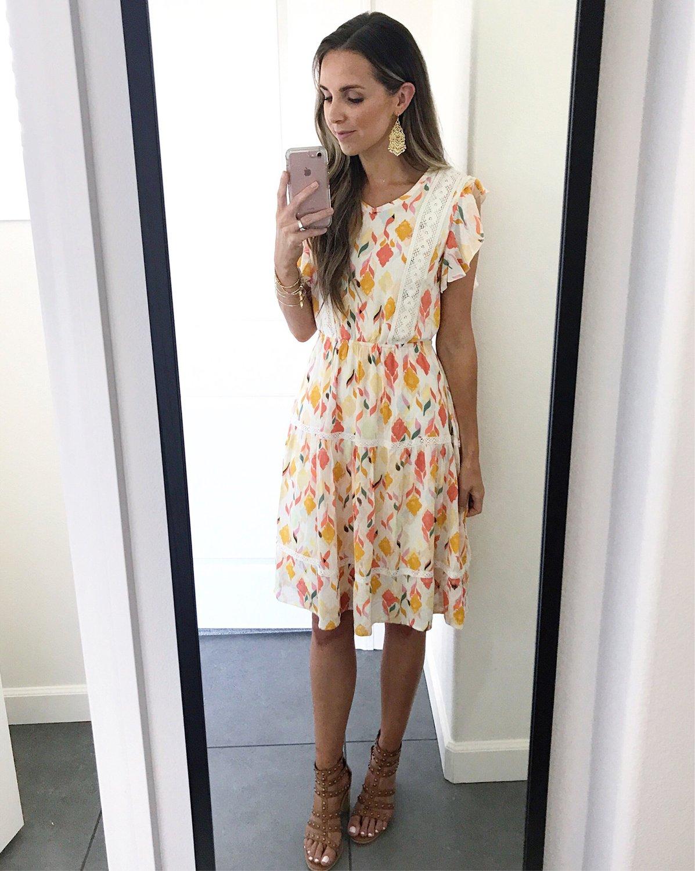 merricksart.com | floral midi dress