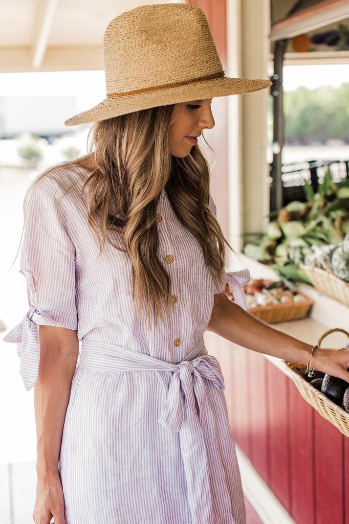 Easy Linen Shirt Dress Sewing Tutorial | merricksart.com