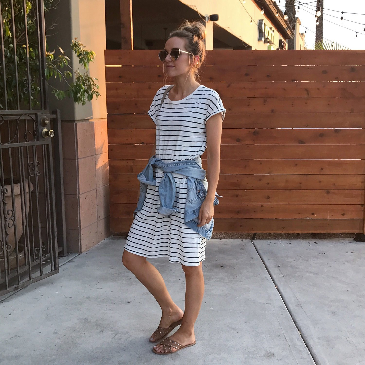 merricksart.com | Striped T-Shirt Dress