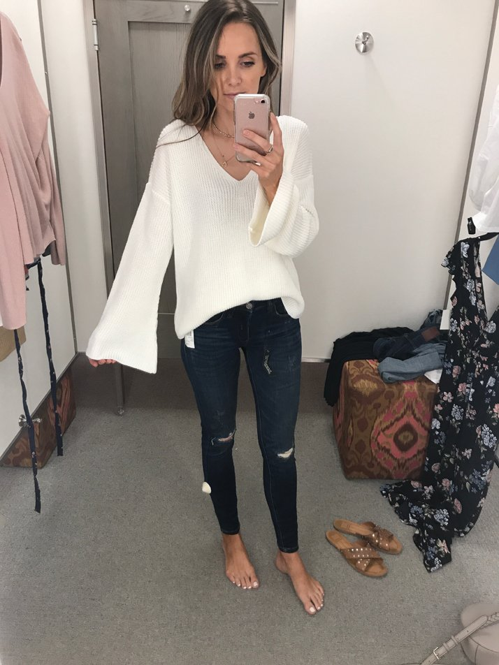 3c230fefd3cb3 Now is a good time to stock up on sweaters while they're amazing prices!  Here are a few favorites I tried on.