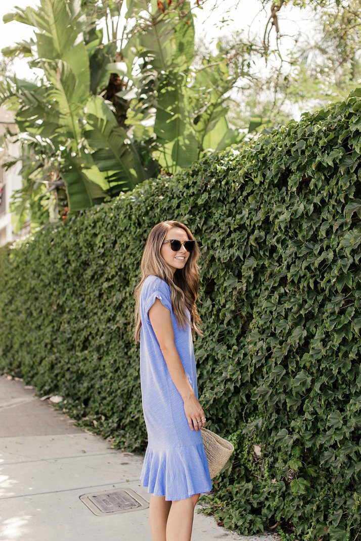 Merrick's Art Blue Ruffle Hem Dress