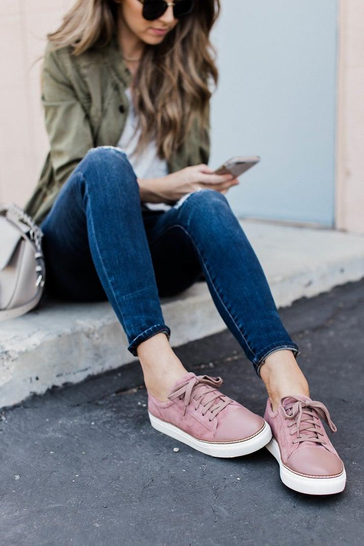 Merrick's Art Pink Caslon Sneakers