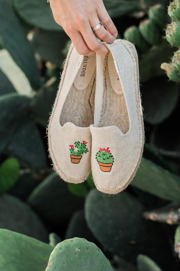 Merricksart.com | Cactus Platform Espadrilles via Soludos