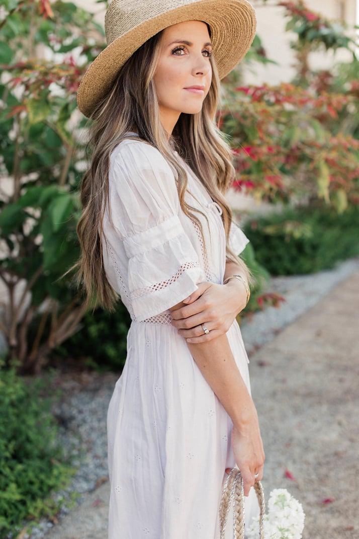 Merricksart.com | Lilac Midi Dress via Topshop at Nordstrom