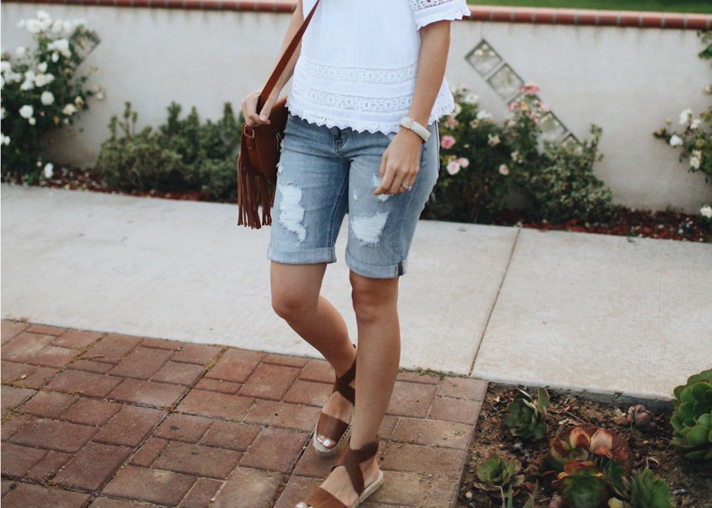 merricksart.com | ripped bermuda shorts