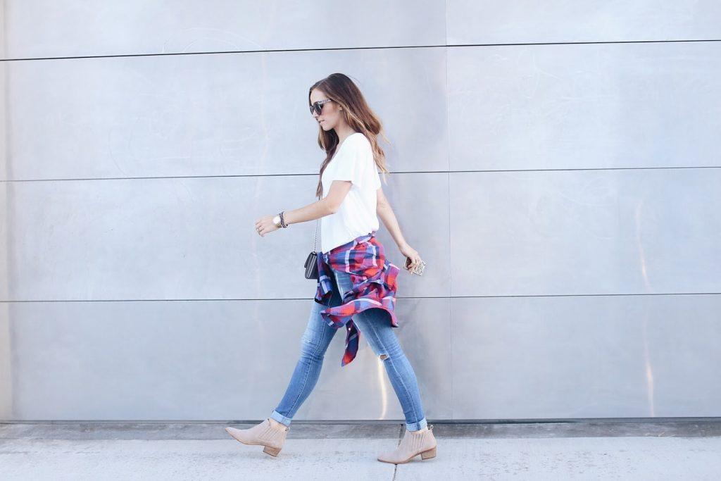 merricksart.com | jeans and plaid shirt