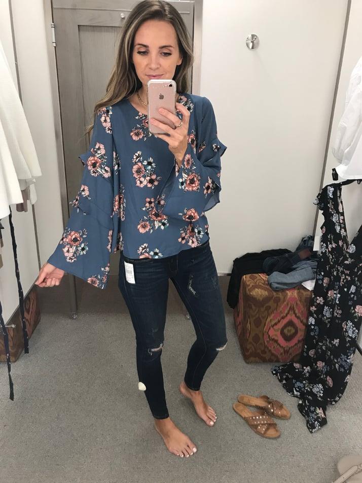 merricksart.com floral bell sleeve top
