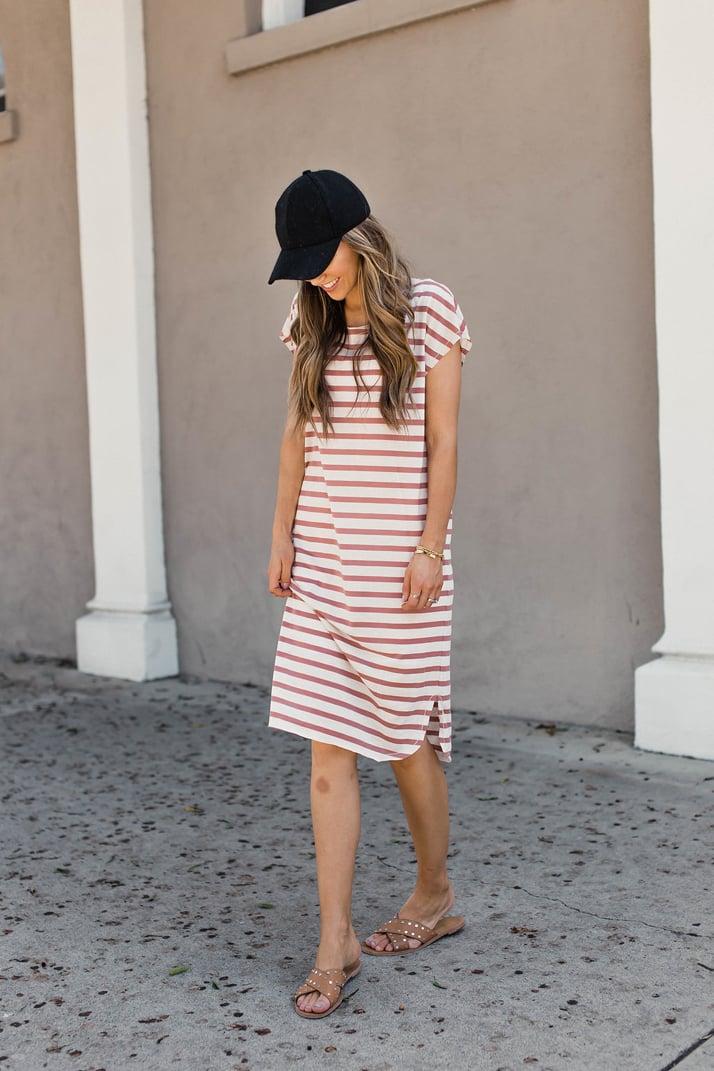 merricksart.com | scoop hem midi dress