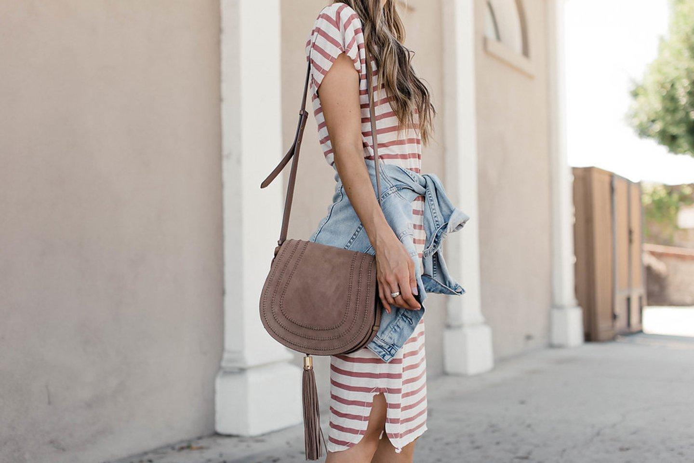 merricksart.com | striped dress