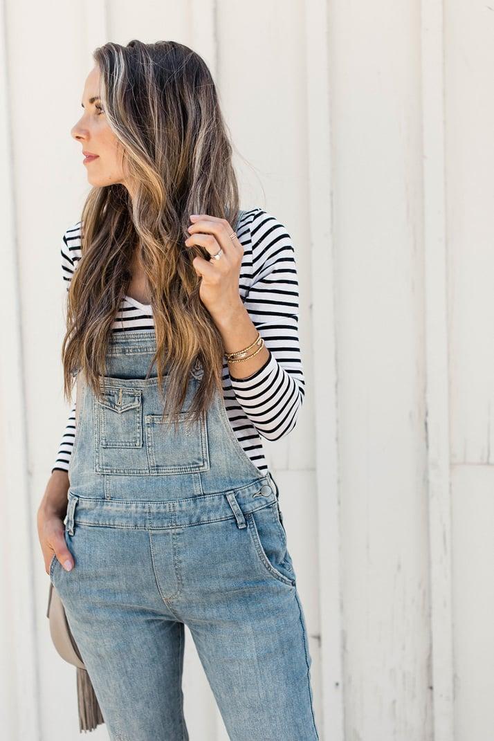 merricksart.com | overalls and striped top