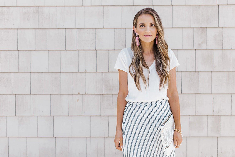 merricksart.com | maxi wrap skirt and white tee