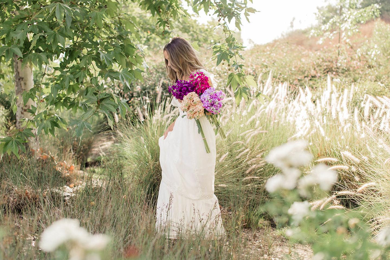 walking through the fields with flowers | merricksart.com