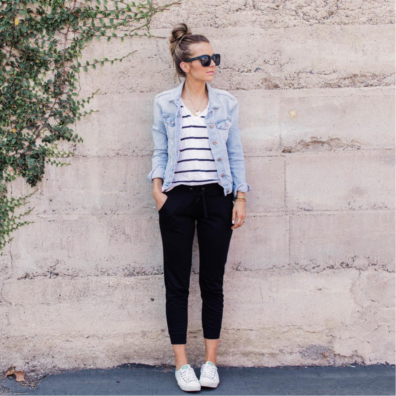 denim jacket and joggers | merricksart.com