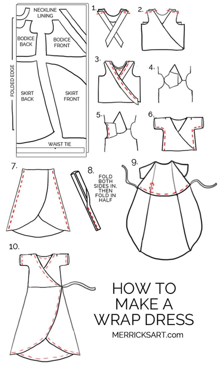 Wrap Dress Sewing Pattern Cool Inspiration Ideas