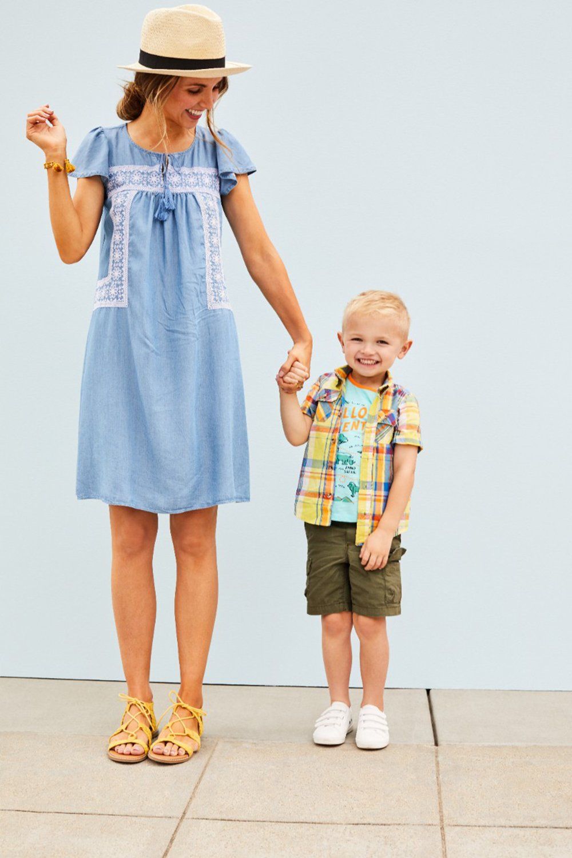 merricksart.com | chambray dress