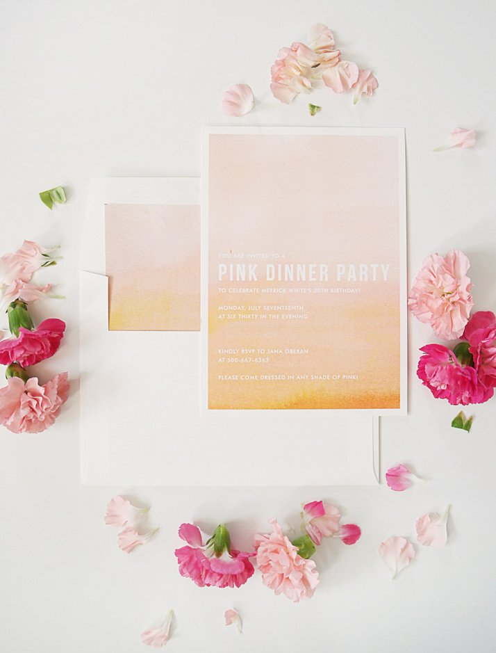 Merrick's Art Minted Ombre Party Invitation