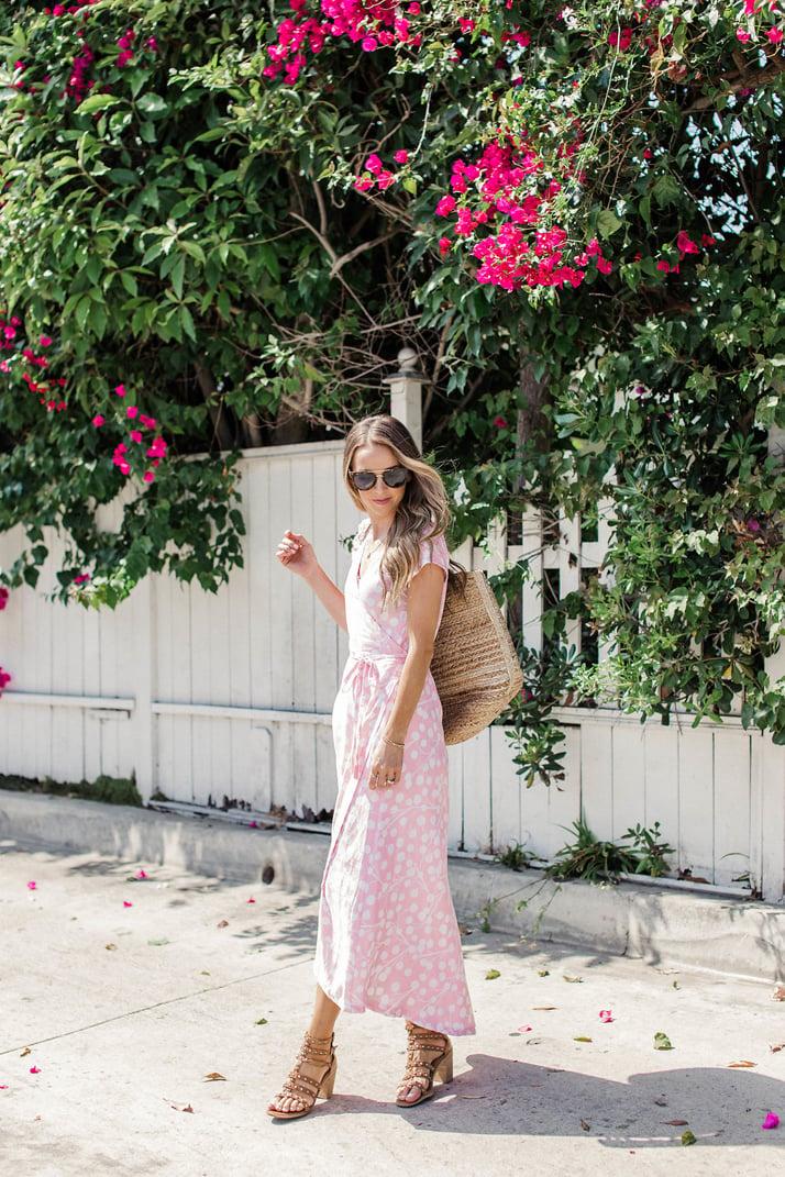 Merricksart.com pink wrap dress
