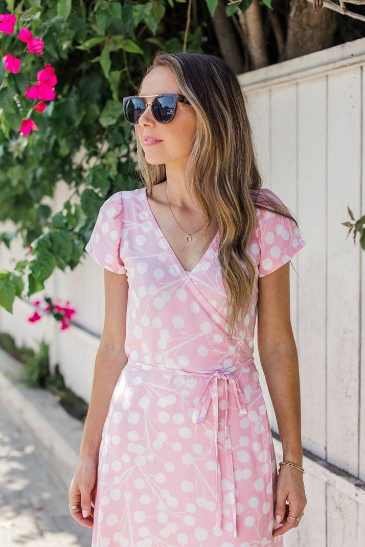 merricksart.com baby pink wrap dress