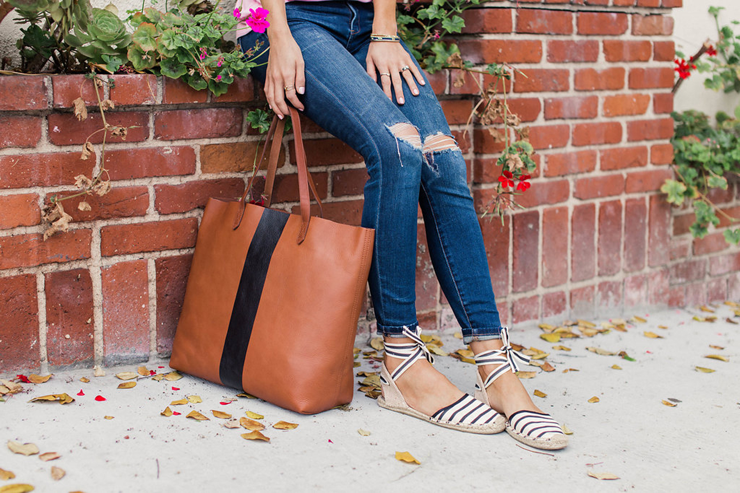 merricksart.com black and brown striped madewell tote