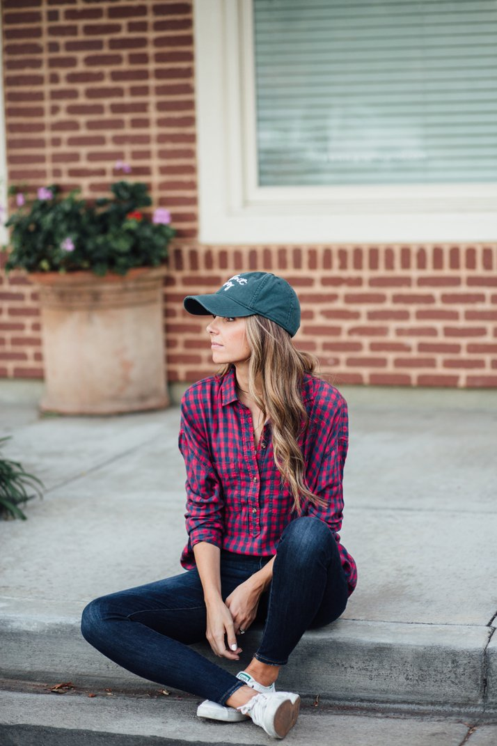 an easy weekend outfit that looks cute and is easy to duplicate