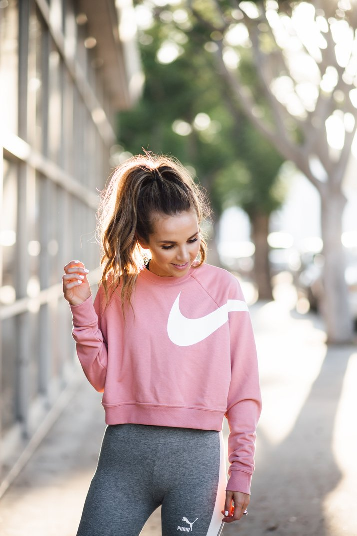 Love this nike versa cropped sweater from Finish Line