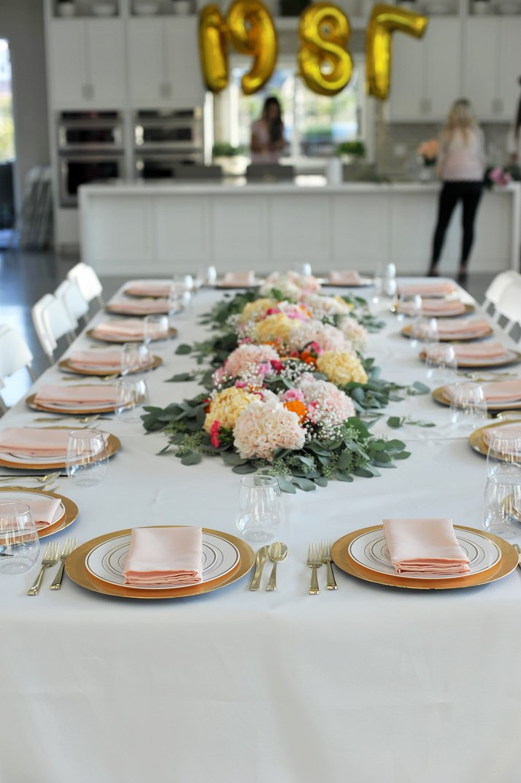 merricksart.com party pink tablescape