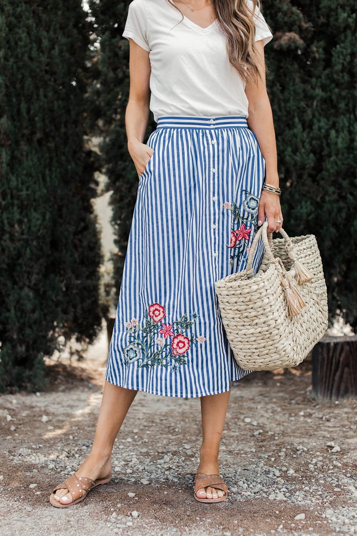 merricksart.com striped skirt