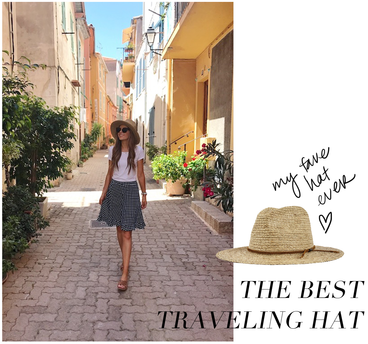 My favorite Brixton Straw hat was an essential for our travel through the French Riviera and Amalfi Coast | merricksart.com