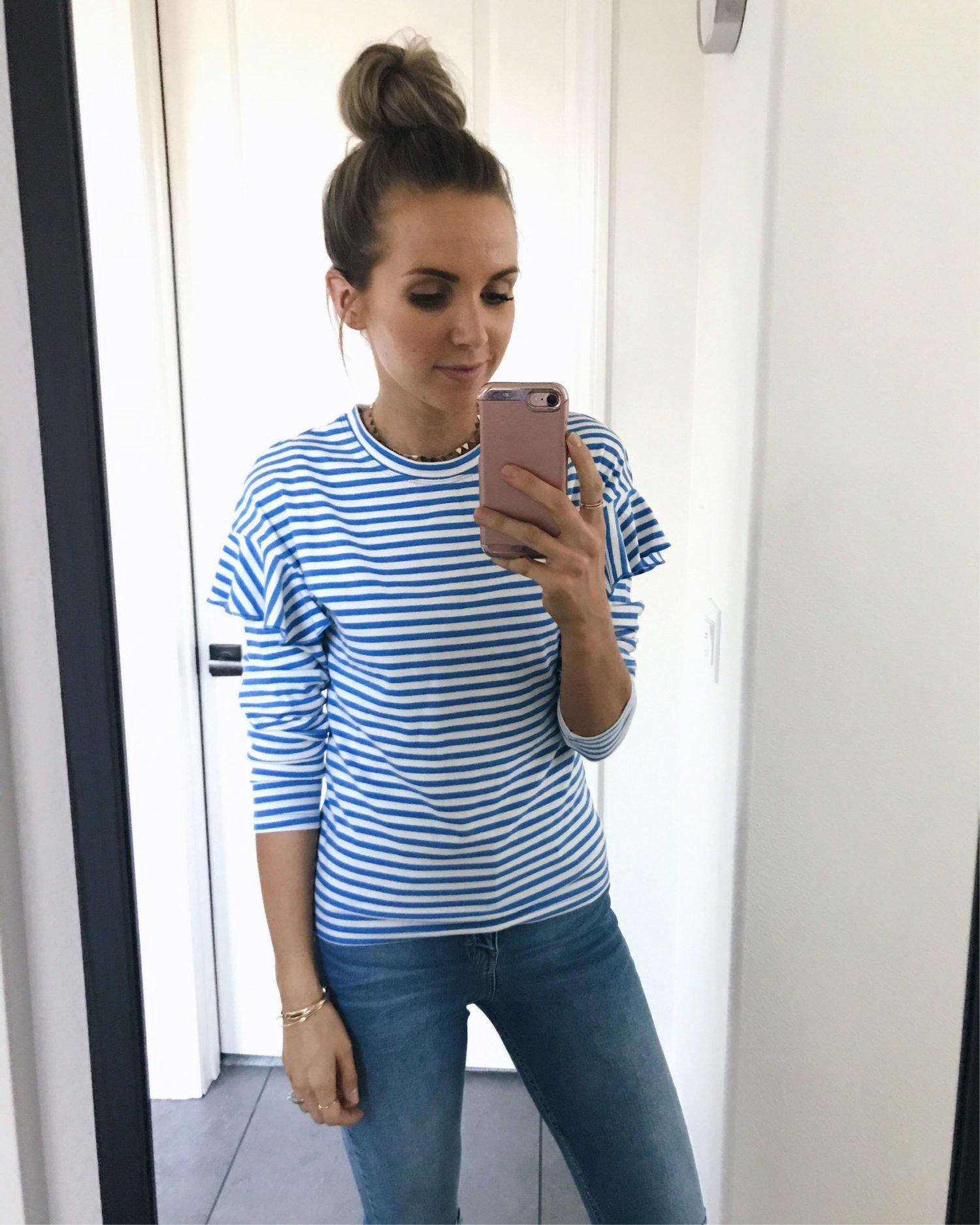 striped sweatshirt   merricksart.com