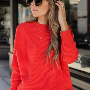chunky red sweater | merricks