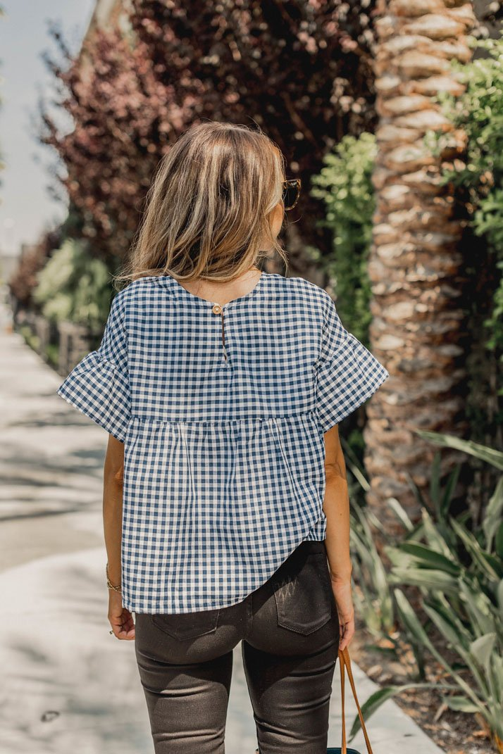This boxy ruffle tee works for all seasons