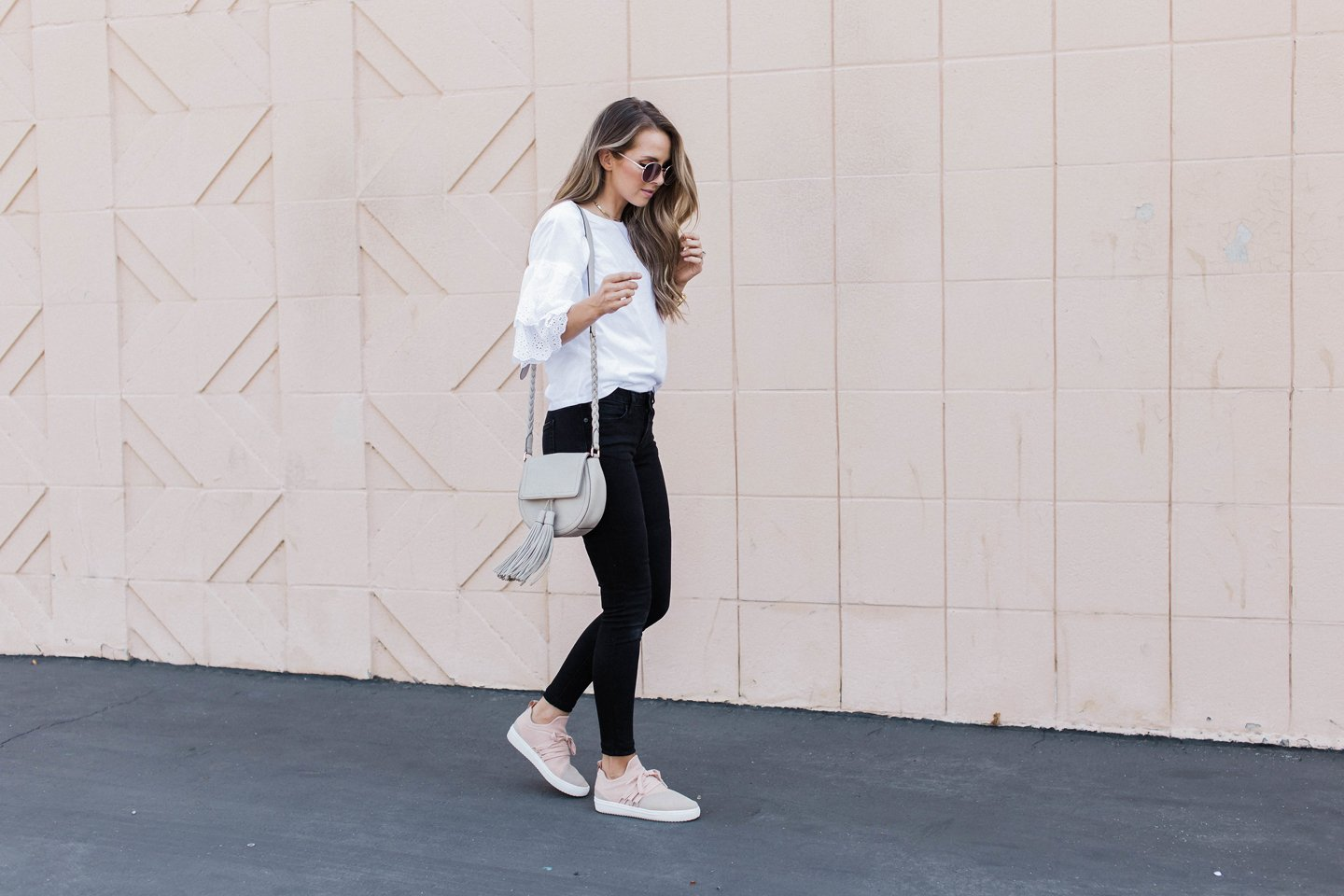 try these tips for wearing sneakers with an everyday outfit