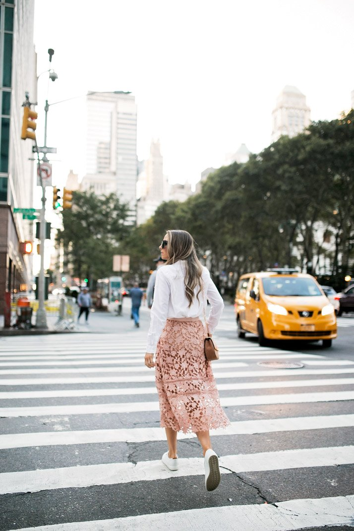 a new york moment in blush and white