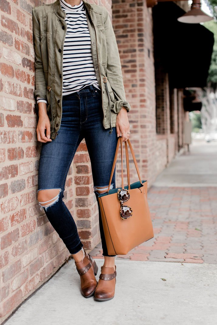 the quintessential fall outfit with these Clarks boots from @macys #macys-sponsored #macyslove #macys