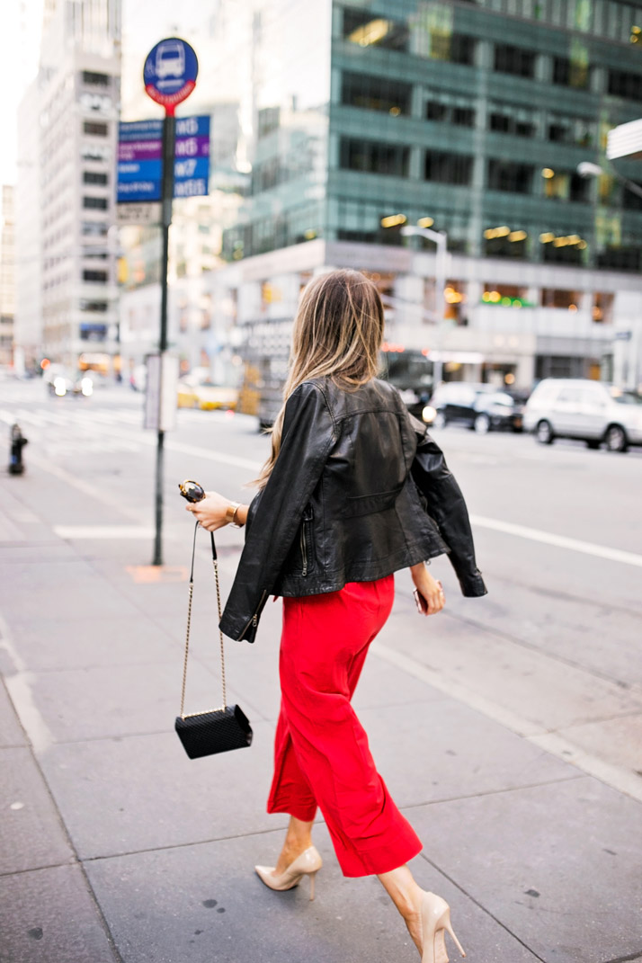bold black and red combination