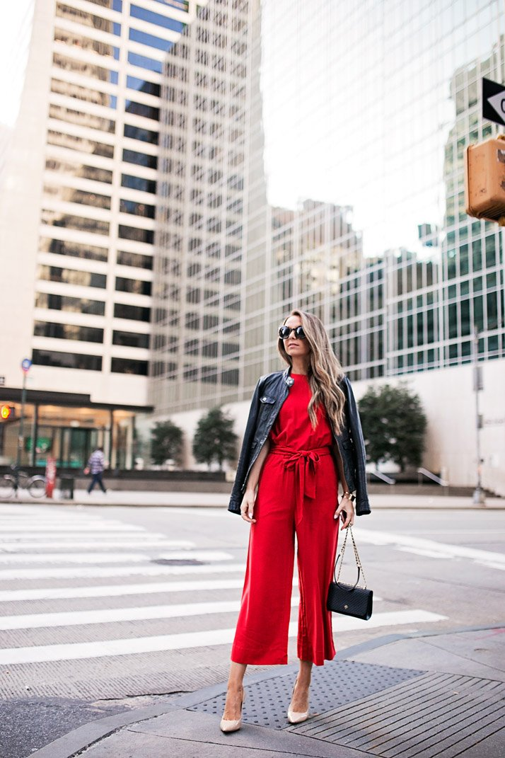 bold red in the big apple