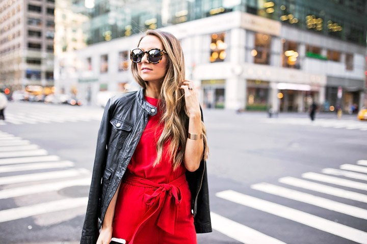 bright red is the color of the season!