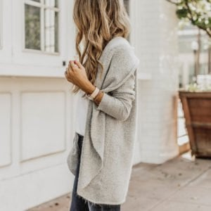 slouchy gray circle cardigan