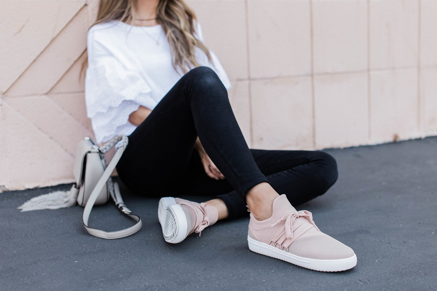 these steve madden sneakers are a fun and casual addition to an everyday  outfit